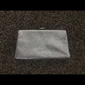Silver Metallic Clutch